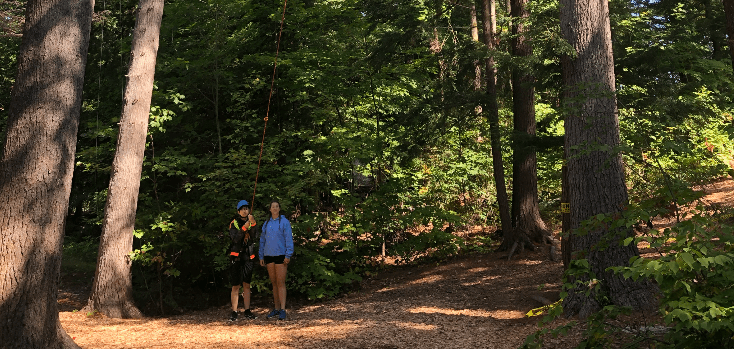 Campers in the wilderness at Camp Tamarack